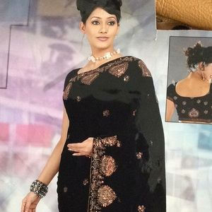 Dresses & Skirts - Black Sequin Embroidery SARI